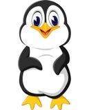 χαριτωμένο penguin κινούμενων σχεδίων Στοκ Φωτογραφία