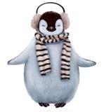 Χαριτωμένο penguin με το μαντίλι απεικόνιση αποθεμάτων