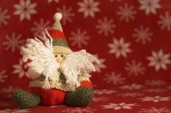 χαριτωμένο santa κουκλών που & Στοκ εικόνα με δικαίωμα ελεύθερης χρήσης