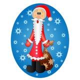χαριτωμένο santa Claus έκπληκτο Στοκ Εικόνες