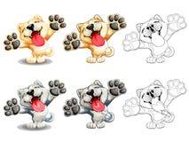 Χαριτωμένο slime χρώμα σκυλιών κουταβιών και lineart Στοκ φωτογραφία με δικαίωμα ελεύθερης χρήσης