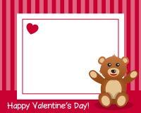 Χαριτωμένο Teddy αντέχει το οριζόντιο πλαίσιο διανυσματική απεικόνιση