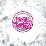 Χαρούμενα Χριστούγεννας διανυσματικό πρότυπο καρτών σχεδίου κειμένων καλλιγραφικό γράφοντας με το υπόβαθρο ύφους grunge Στοκ φωτογραφίες με δικαίωμα ελεύθερης χρήσης