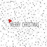 Χαρούμενα Χριστούγεννας διανυσματικό πρότυπο καρτών σχεδίου κειμένων καλλιγραφικό γράφοντας Δημιουργική τυπογραφία για την αφίσα  απεικόνιση αποθεμάτων