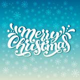 Χαρούμενα Χριστούγεννας εγγραφής χεριών « Στοκ εικόνα με δικαίωμα ελεύθερης χρήσης