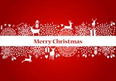 Χαρούμενα Χριστούγεννας διανυσματικό αρχείο καρτών στοιχείων κόκκινο. Στοκ Εικόνες