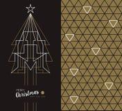Χαρούμενα Χριστούγεννας νέα έτους τέχνης κάρτα διακοπών deco καθορισμένη Στοκ Φωτογραφία
