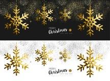 Χαρούμενα Χριστούγεννας νέος χρυσός εμβλημάτων μέσων έτους κοινωνικός διανυσματική απεικόνιση