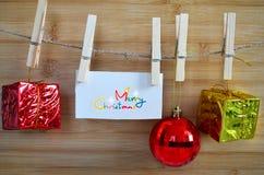 Χαρούμενα Χριστούγεννα, διακόσμηση για τα Χριστούγεννα Στοκ Φωτογραφία