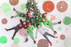Χαρούμενα Χριστούγεννα 2016 ευτυχής εορτασμός παιδιών Στοκ Φωτογραφία