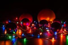 Χαρούμενα Χριστούγεννα ευχετήριων καρτών Στοκ Εικόνες