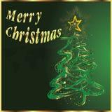 Χαρούμενα Χριστούγεννα και δέντρο. Στοκ εικόνα με δικαίωμα ελεύθερης χρήσης