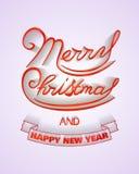 Χαρούμενα Χριστούγεννα και αφίσα καλής χρονιάς Στοκ Εικόνα
