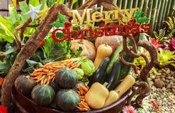 Χαρούμενα Χριστούγεννα και λαχανικό. Στοκ Φωτογραφία