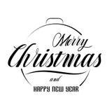 Χαρούμενα Χριστούγεννα και γράφοντας πρότυπο καλής χρονιάς Στοκ εικόνα με δικαίωμα ελεύθερης χρήσης