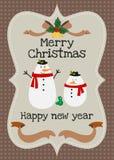 Χαρούμενα Χριστούγεννα και διανυσματική ευχετήρια κάρτα καλής χρονιάς Στοκ εικόνα με δικαίωμα ελεύθερης χρήσης