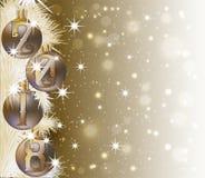 Χαρούμενα Χριστούγεννα και ευτυχής κάρτα πρόσκλησης έτους του 2018 νέα, διάνυσμα διανυσματική απεικόνιση