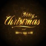 Χαρούμενα Χριστούγεννα και ευχετήρια κάρτα καλής χρονιάς, Στοκ Φωτογραφίες