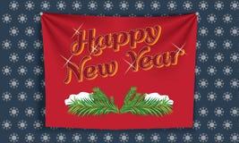Χαρούμενα Χριστούγεννα και ευχετήρια κάρτα καλής χρονιάς, διανυσματική απεικόνιση Στοκ εικόνες με δικαίωμα ελεύθερης χρήσης