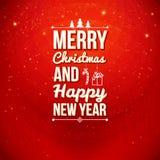 Χαρούμενα Χριστούγεννα και κάρτα καλής χρονιάς. Στοκ φωτογραφία με δικαίωμα ελεύθερης χρήσης