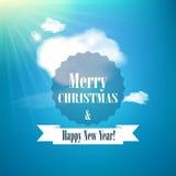 Χαρούμενα Χριστούγεννα και κάρτα καλής χρονιάς Στοκ Φωτογραφία