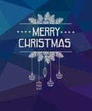 Χαρούμενα Χριστούγεννα και κάρτα καλής χρονιάς Στοκ εικόνες με δικαίωμα ελεύθερης χρήσης