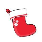 Χαρούμενα Χριστούγεννα και κάλτσα καλής χρονιάς στοκ φωτογραφία με δικαίωμα ελεύθερης χρήσης