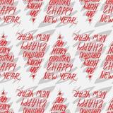 2019 Χαρούμενα Χριστούγεννα και καλή χρονιά που σύρουν το άνευ ραφής σχέδιο ελεύθερη απεικόνιση δικαιώματος