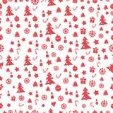 Χαρούμενα Χριστούγεννα και καλή χρονιά πρότυπα άνευ ραφής επίσης corel σύρετε το διάνυσμα απεικόνισης Στοκ φωτογραφία με δικαίωμα ελεύθερης χρήσης