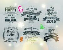 Χαρούμενα Χριστούγεννα και καλή χρονιά 2015 χαιρετισμοί Στοκ εικόνα με δικαίωμα ελεύθερης χρήσης