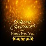 Χαρούμενα Χριστούγεννα και καλή χρονιά χαιρετισμός καλή χρονιά καρτών του 2007 Στοκ Φωτογραφία