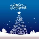 Χαρούμενα Χριστούγεννα και καλή χρονιά, χριστουγεννιάτικο δέντρο Στοκ εικόνες με δικαίωμα ελεύθερης χρήσης