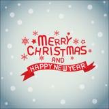 Χαρούμενα Χριστούγεννα και καλή χρονιά Στοκ εικόνες με δικαίωμα ελεύθερης χρήσης
