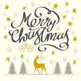 Χαρούμενα Χριστούγεννα και καλή χρονιά Στοκ Φωτογραφία