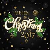 Χαρούμενα Χριστούγεννα και καλή χρονιά 2017 Στοκ εικόνα με δικαίωμα ελεύθερης χρήσης