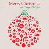 Χαρούμενα Χριστούγεννα και καλή χρονιά Colage στοκ εικόνα