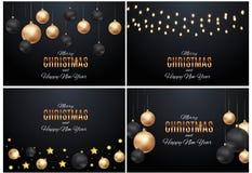 Χαρούμενα Χριστούγεννα και νέο υπόβαθρο έτους επίσης corel σύρετε το διάνυσμα απεικόνισης ελεύθερη απεικόνιση δικαιώματος