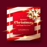 Χαρούμενα Χριστούγεννα και υπόβαθρο ευχετήριων καρτών καλής χρονιάς 2019 διανυσματική απεικόνιση