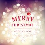 Χαρούμενα Χριστούγεννα και χαιρετισμός καλής χρονιάς  Στοκ φωτογραφία με δικαίωμα ελεύθερης χρήσης