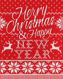 Χαρούμενα Χριστούγεννα και ύφος καλής χρονιάς άνευ ραφής Στοκ Εικόνα
