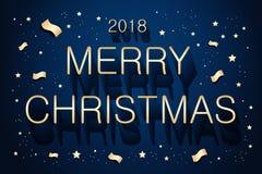 Χαρούμενα Χριστούγεννα και 2018 απεικόνιση αποθεμάτων