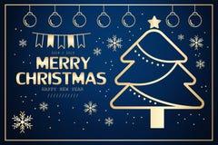 Χαρούμενα Χριστούγεννα και 2018 διανυσματική απεικόνιση