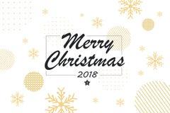 Χαρούμενα Χριστούγεννα και 2018 ελεύθερη απεικόνιση δικαιώματος