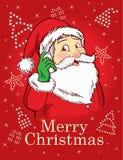 Χαρούμενα Χριστούγεννα και Santa Στοκ φωτογραφία με δικαίωμα ελεύθερης χρήσης