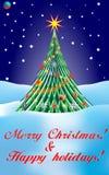 Χαρούμενα Χριστούγεννα & καλές διακοπές διανυσματική απεικόνιση