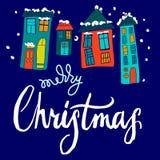 Χαρούμενα Χριστούγεννα, καλλιγραφία διανυσματική απεικόνιση