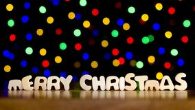 Χαρούμενα Χριστούγεννα με τα πολύχρωμα σημεία Στοκ Εικόνες