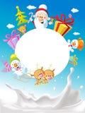 Χαρούμενα Χριστούγεννα - με το έλκηθρο Άγιου Βασίλη Στοκ Εικόνες