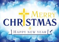 Χαρούμενα Χριστούγεννα, μια ευχετήρια κάρτα καλής χρονιάς Στοκ Φωτογραφία
