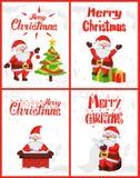 Χαρούμενα Χριστούγεννα, περιπέτειες Άγιου Βασίλη Wintertime απεικόνιση αποθεμάτων